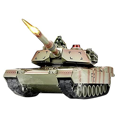 YYGE Ferngesteuerte Panzer, 1:14 2.4G RC Militär Kampfpanzer mit Ton und Licht, Spielzeug für Erwachsene und Kinder