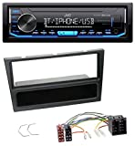 caraudio24 JVC KD-X351BT AUX USB Bluetooth MP3 Autoradio für Opel Agila Combo Vivaro Corsa C Omega 2001-2004 schwarz