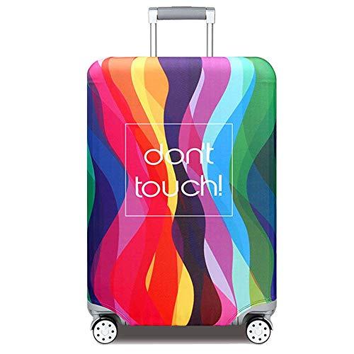 YEKEYI Reise Suitcase Protector Reißverschluss Koffer Abdeckung Waschbar Drucken Gepäck Abdeckung 18-32 Zoll (Multicolor, S)