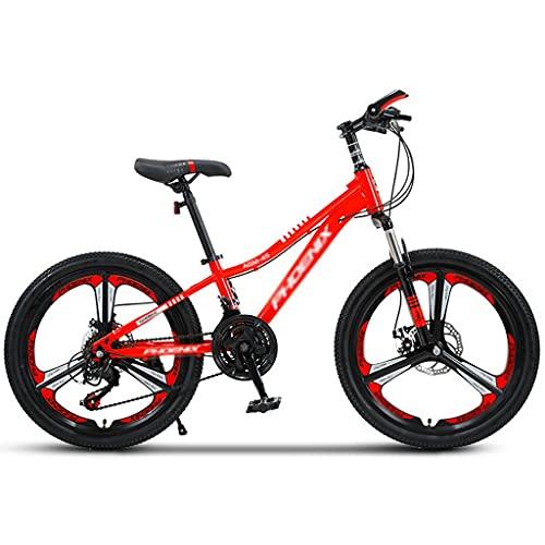Bicicleta para niños 20 Bicicletas de Montaña de 22 Pulgadas Horquilla Suspensión 21 Velocidades MTB Estructura de Acero Al Carbono de Alta Resistencia Bicicleta con Freno de Disco Doble para Hombre y