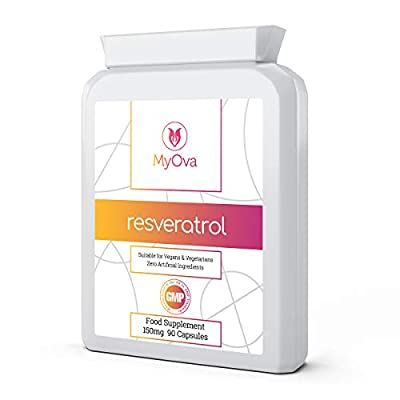 Resveratrol Supplement - High Strength 150mg - 90 Rapid Release Capsules with Trans Resveratrol Extracted from Japanese Knotweed - High Potency Antioxidant - Made in The UK by MyOva