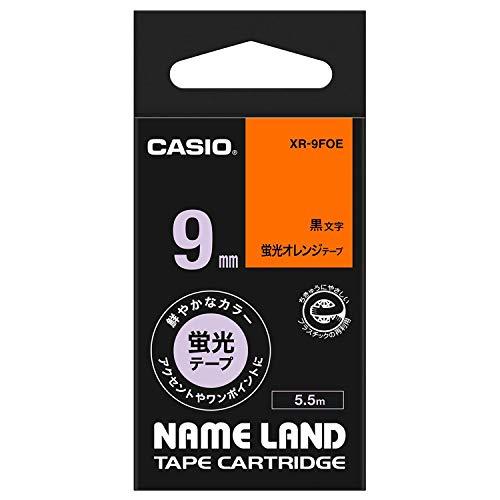 ネームランド 蛍光色テープ 蛍光オレンジ XR-9FOE [黒文字 9mm×5.5m]