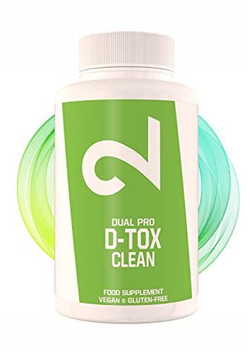 Dual Detox D-tox Cápsulas - Ultimate Body Detox, Para Mujeres Y Hombres, Sin Aditivos Ni Estimulantes, Suplemento Alimenticio 100% Natural, 60 Cápsulas Veganas