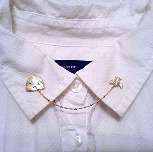 Bee And Beehive Cash special price Collar Gold Clips Sweater Free shipping on posting reviews Pins