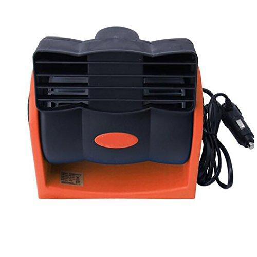 Car Heater Ventilateur De Refroidissement Automatique Réglable De Voiture De Vitesse De Refroidisseur d'air De Ventilateur De Refroidissement De Voiture 12V pour L'été,Orange
