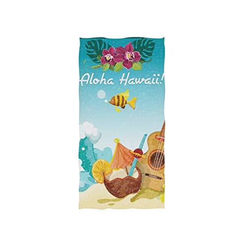 rodde Gitaar Handdoek Katoen voor Maximale zachtheid en Huidvriendelijk,30x15 Inch