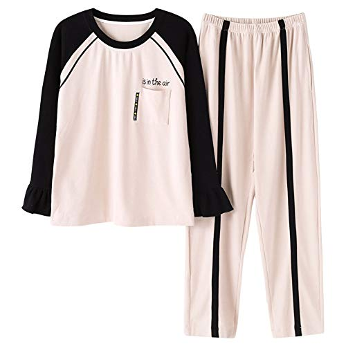 Zanzan Pyjama Set Damen Herbst und Winter Bequeme warme Cartoon Eichhörnchen langärmelige Hose kann Außenbekleidung tragen,XL