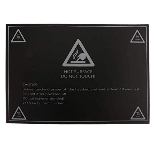 SUNTAOWAN Flexible Removable 3D Printer Build Surface, Magnetic Heated Bed Cover Printing Sticker for 3D Printer 300x210mm