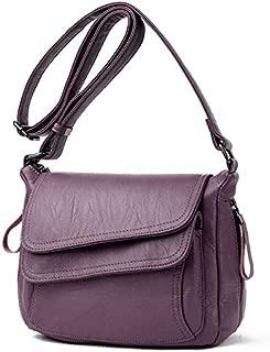 WTYD Single Shoulder Bag Summer Leather Luxury Handbags Female Shoulder Messenger Bag(Black) (Color : Purple)