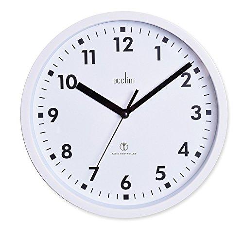 Acctim 74662 Nardo 20cm Radio Controlled White Wall Clock
