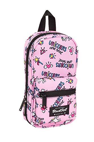 safta Blackfit8 Magical Plumier mochila 4 estuches llenos, 33 piezas, escolar, Rosa Unicornios (8412688348718)