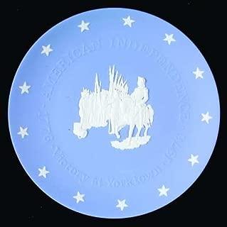 "Wedgwood Blue Jasper American Bicentennial Commemorative Plate ""Victory at Yorktown"""