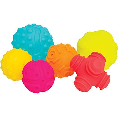 Práctico juego de 6 piezas blandas en colores vivos