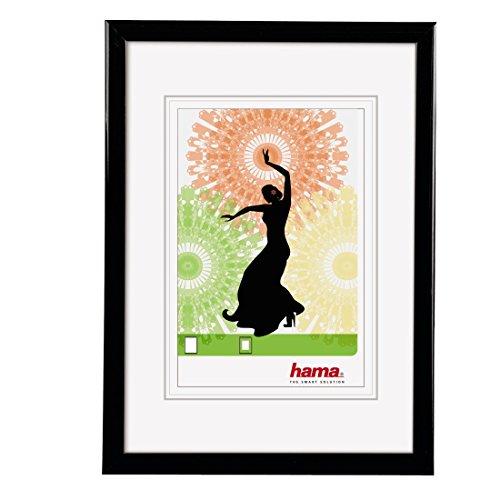 """Hama Cadre en plastique """"Madrid"""" (taille de cadre de 50 cm x 70 cm, taille de la photo de 30 cm x 45 cm, 1 photo par cadre, à accrocher, élégant, simple, classique) Noir"""