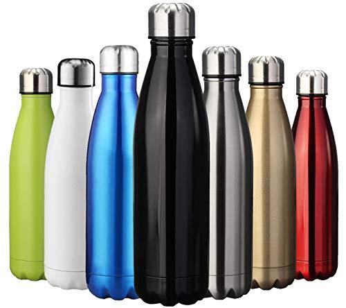 ZUSERIS Botella Aislada al Vacío de Acero Inoxidable Portátil Térmica Libre de BPA, para Ejercicio Excursión Viajar Alpinismo Camping Deportes - 350ml/500ml/750ml/1000ML