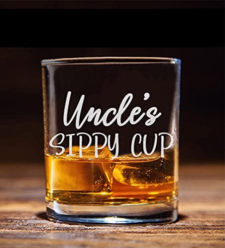 Uncle's Sippy Cup Whiskey Glass - Funny Birthday Gift for Uncle