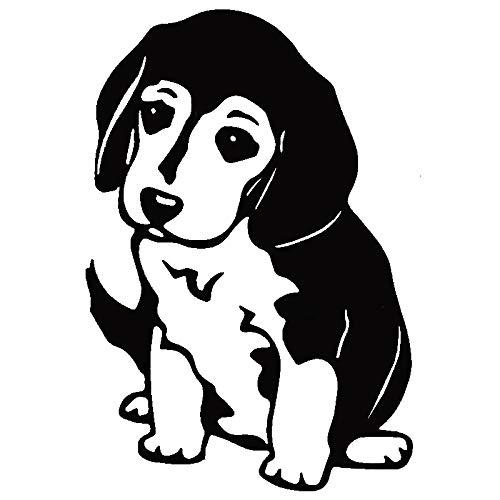 JYIP Puppy Logo Removable Vinyl Decal 16x10.9cm Car Decoration White