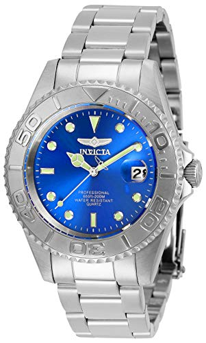 Invicta Men's Pro Diver Quartz Watch with Stainless Steel Strap, Silver, 18 (Model: 29938)