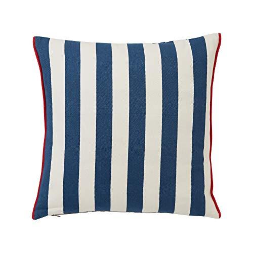 Lexington - Kissenhülle, Kissen, Zierkissen - Striped Cotton Pillow Cover - Farbe: Blau Weiß - 50 x 50 cm - 100% Baumwolle