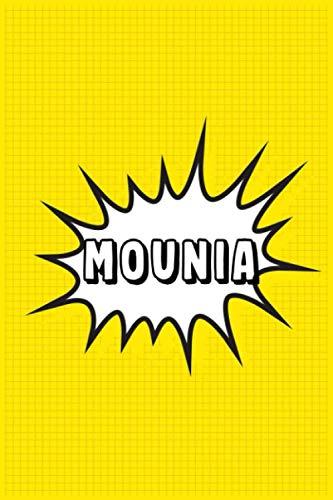 Mounia: Personalized Name Mounia Notebook, Gift for Mounia, Diary Gift Idea