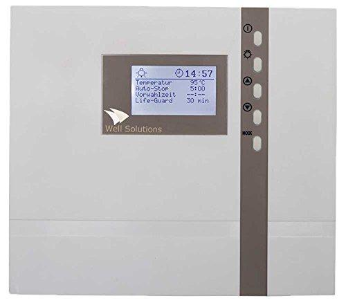 Well Solutions® Design Bi-o Sauna Steuerung Premium H3 / Kombi Steuergerät mit Zeitvorwahl/Optional mit Bankfühler und Feuchtefühler/Made in Germany