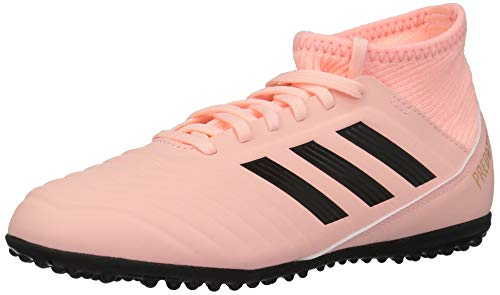 adidas Unisex Predator Tango 18.3 TF Soccer Shoe, Clear Orange/Black/Trace Pink, 2 M US Little Kid