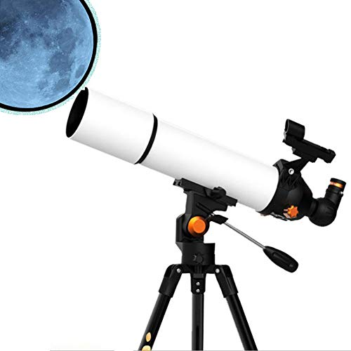 Lowest Price! YAN Telescope for Astronomy Beginners, Portable 80Mm Refractor Travel Telescope for Ca...