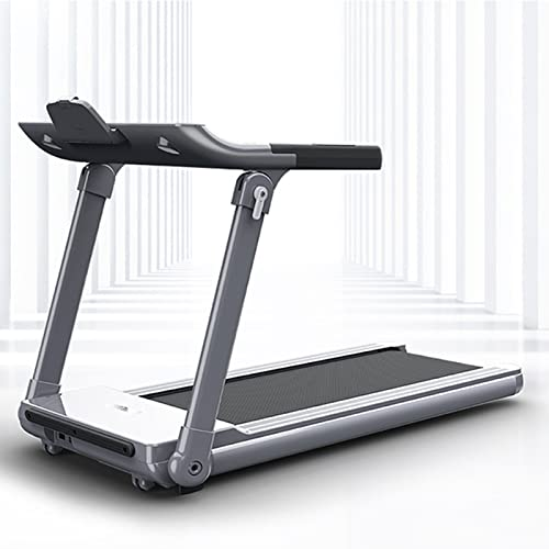 Cinta de correr eléctrica plegable, Sistema de absorción de impactos flexible, Máquina para caminar con monitorización de frecuencia cardíaca, equipos de gimnasio portátiles de oficina en casa