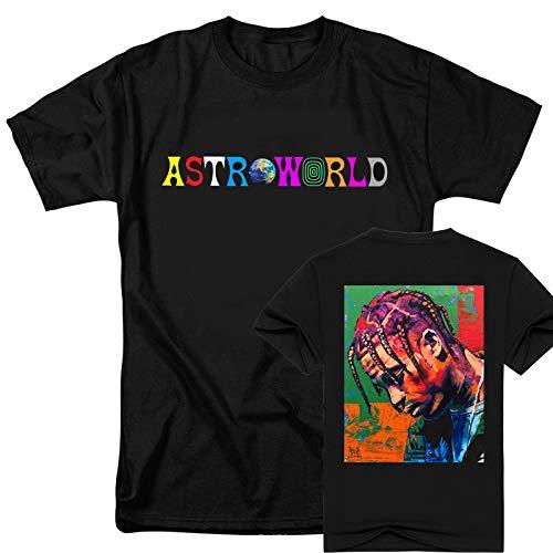 JJZHY Camiseta Creativa Unisex de la impresión Doble Creativa del Tema de Astrius Travis Scott Astroworld