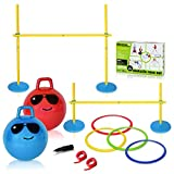 Playzone-fit Obstacle Race Set - Competition Obstacle Race Course for Children - Perfect Outdoor & Indoor Racing Obstacles for Young Kids!