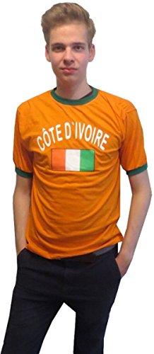 Sonia Originelli Fan-Shirt Côte d\'voire Unisex Fußball WM EM Herren T-Shirt Größe XXL