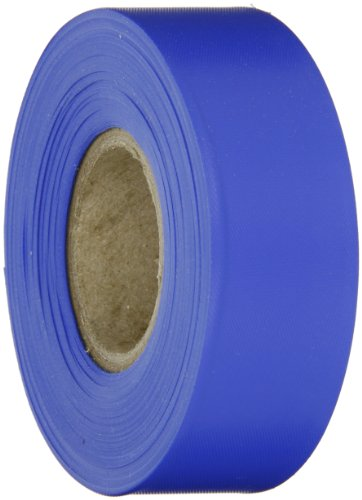 Brady Blue Flagging Tape for Boundaries and Hazardous Areas - Non-Adhesive Tape, 1.188' Width, 300' Length (Pack of 1) - 58345