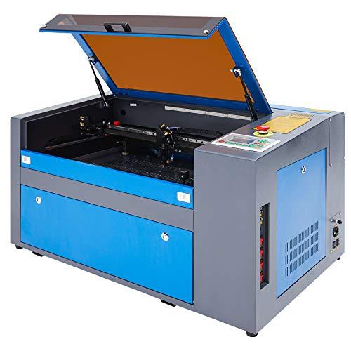 Z ZELUS 50W Máquina de Grabado Láser 300 x 500 MM Máquina de Grabador Láser de CO2 Máquina de Corte Láser LCD Digital Puerto USB, Bomba de Aire, Software RDWorks (50W)
