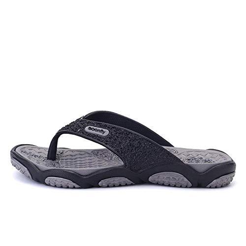 Zapatos de playa, ducha, gimnasio, chanclas casuales, chanclas holgadas, gris_41, suelas gruesas de espuma fangkai77