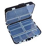 SENRISE - Scatole per attrezzatura da pesca a doppio strato, 16 scomparti, contenitore per...