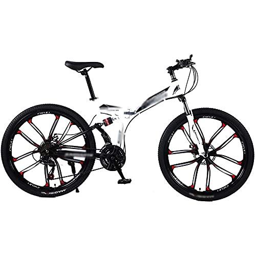 Bicicleta de Velocidad Frente y Trasero Amortiguador Mountain Bike Cross Country Chouth Student 24/26 Pulgada 21/24/27 Velocidad,27speed,26 Inches