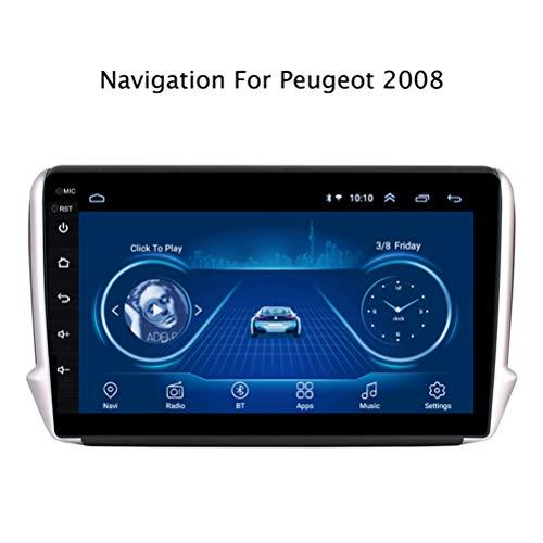 Android 8.1 Auto Stereo Radio Video Player 10.1 Zoll HD 1024 * 600 Touchscreen Navigation für Auto, Unterstützung Bluetooth 4.0 WiFi FM Spiegel Link,für Peugeot 2008 2015-2018,WIF1+16G