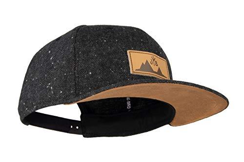 Jumping Bird Snapback Cap für Damen und Herren - Baseball Mütze verstellbar stylisch und hochwertig als Accessoire für jedes Outfit, Dunkelgrau, Einheitsgröße