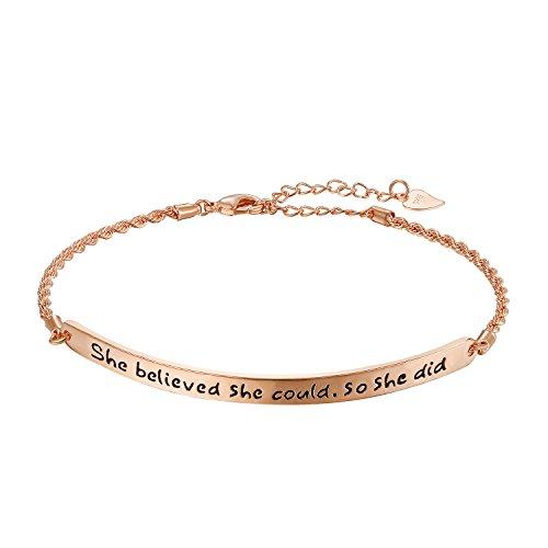 Cupimatch Damen Armband Elegant Armreifen mit Perlen Verstellbar Doppelte Kugel-Ketten Edelstahl Armkettchen (Typ3)