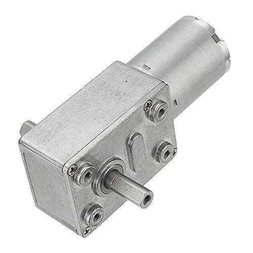 DollaTek JGY-370 DC 12V 150 RPM Motoriduttore a vite senza fine a doppio albero Motoriduttore riduttore autobloccante