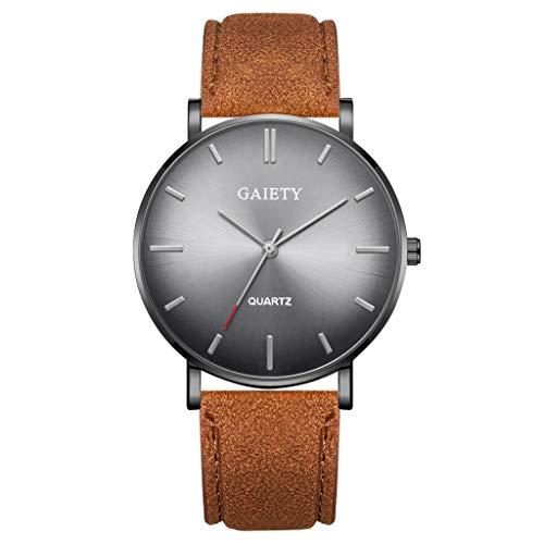 Analog Quarz ultradünn Classic Minimalistisches Design Armbanduhr für Herren, Skxinn Herrenuhren,Männer Business Fashion Einfach Armbanduhren mit Kunstlederband, Ausverkauf(X)