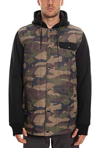 686 Men's Bedwin Insulated Jacket - Waterproof Ski/Snowboard Winter Coat, Dark Camo, X-Large