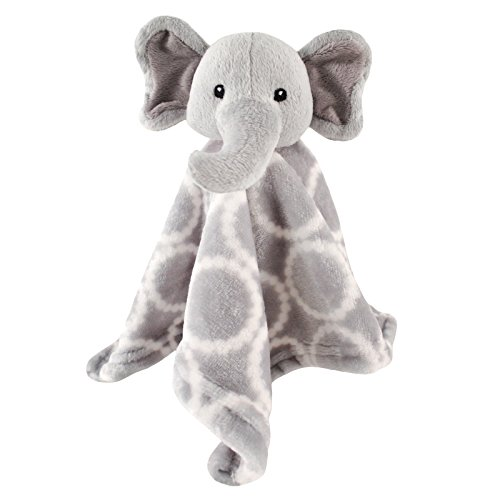 Hudson Baby Unisex Baby Animal Face Security Blanket, Elephant, One Size