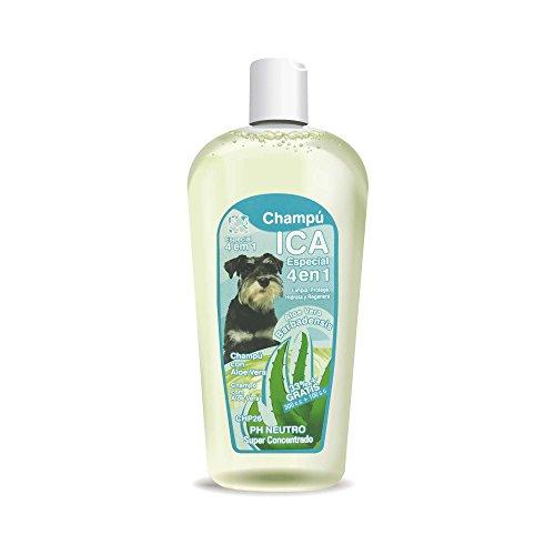ICA CHP26 Champú 4 en 1 con Aloe Vera para Perros