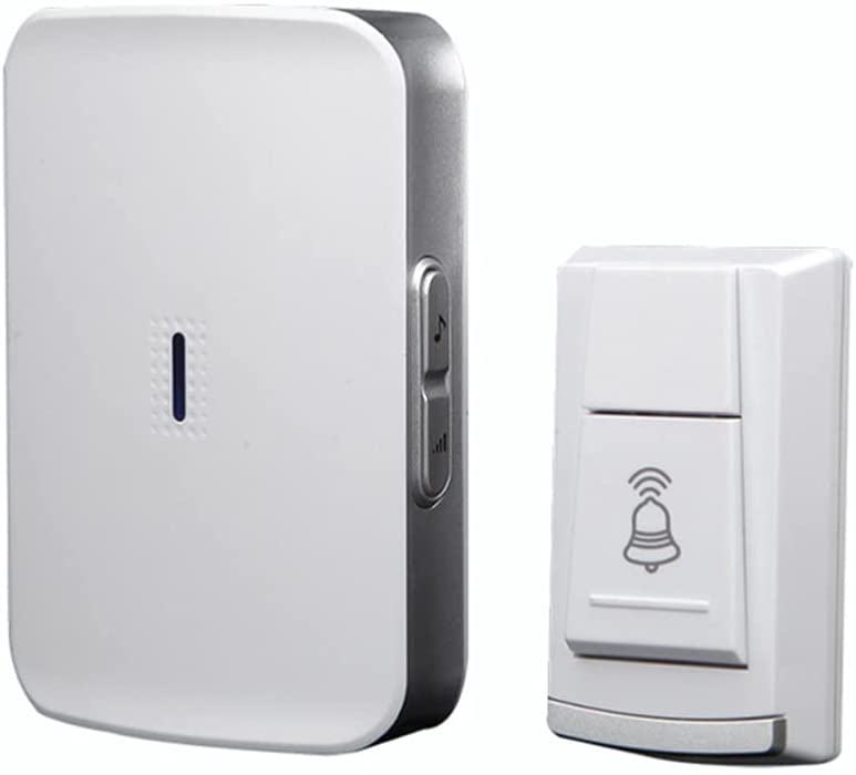TJLSS Wireless Waterproof Large-scale sale Doorbell 2 Battery-Operated DC Button Max 60% OFF