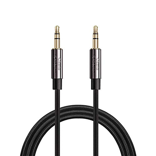 CableCreation Aux Cable, 3.5mm Male to Male Stereo Audio Cable with Silver-Plating Copper Core Compatible with Sony/Beats Headphone, Phone, Tablet, Home&Car Stereo, Gold-Plated Connector/3FT