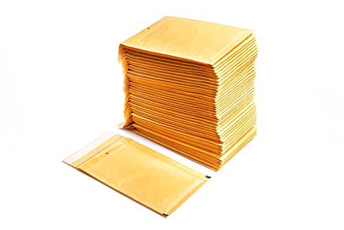 OFITURIA® Sobres Acolchados de Burbujas Marrón Bolsas para Protección de Envíos con Autocierre de Solapa Adhesivo de 10 x 16,5 cm. – 100 unidades