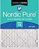 Nordic Pure 12x24x1 MERV 14 Pleated Plus Carbon AC Furnace Air Filters 2 Pack