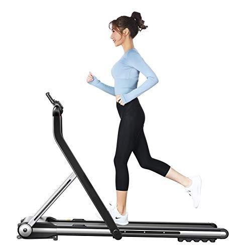 Dispositivo de carrera plegable, cinta de correr mini tranquilo, bajo escritorio caminando caminando cinta de correr con banda de rodadura plegable con pañales de ancho súper delgado con control remot