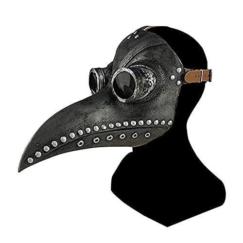 ALINILA Maschera Becco for Halloween,Maschera del Medico della Peste Steampunk Maschera Naso Lungo Becco di Uccello, Masquerade Accessori Costume And Carnevale per Adulti